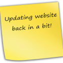 update your website - sticky memo