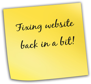 common website problems - note