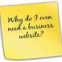 benefits of business website - sticky note